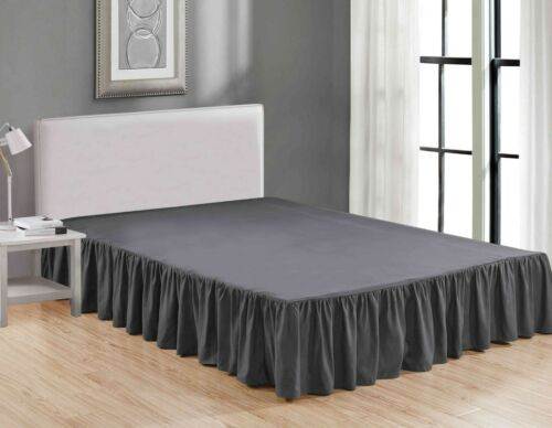 """Super Soft Solid Brushed Microfiber 14"""" Gathered Bed Skirt/ Dust Ruffle"""