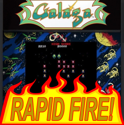 Arcade1UP GALAGA Fast Fire! Upgrade Service, Flash to latest software, Rapid shoot