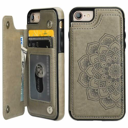 Herbests Compatible with iPhone 8 Plus//iPhone 7 Plus Leather Flip Wallet Case Retro Vintage Owl Love Heart Floral Pattern Protective Phone Case Credit Cards Slots Kickstand Magnetic,Gold