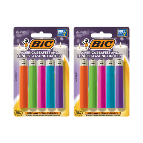 BIC Classic Lighter, Fashion Assorted Colors, 10-Pack