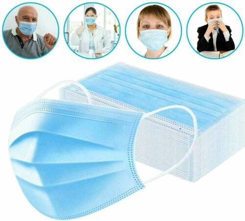 Face Mask Mouth And Nose Respirator Safe Protector Cover Lot 10, 20, 30, 40 50 PC