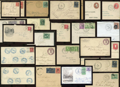 RAILWAY POST OFFICES POSTMARKS 1871-1941 USA COVERS ENVELOPES ...PRICED SINGLY
