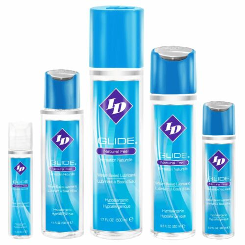 ID Glide Lube Water Based Natural Feel Personal Sex Lube Lubricant Choose Size