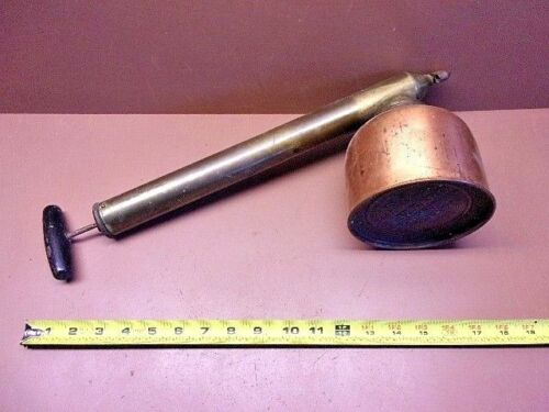 Vtg. D.B. Smith BLIZZARD Copper & Brass Continuous Garden Sprayer Utica, NY, USA