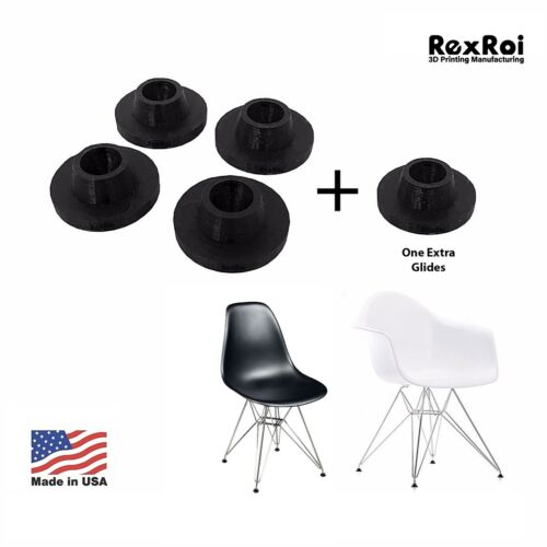 4+1 Chair Glides Replacement of Eames Eiffel Style Furniture Feet