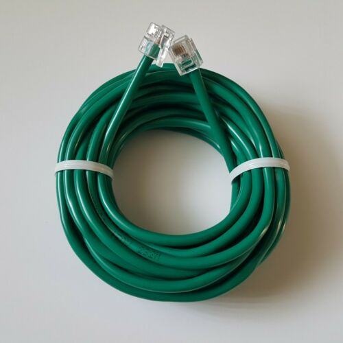 RJ11 RJ12 CAT5e Green DSL Telephone Data Cable for Centurylink, AT$T, Frontier .