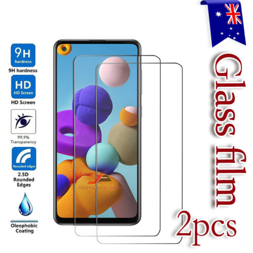 For Samsung Galaxy S20 FE A11 A21S A31 A51 A71 Tempered Glass Screen Protector