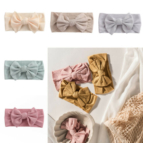 NEW Baby Girl Infant Toddler Headband Wrap Adjustable Top Knot Soft Single Bow