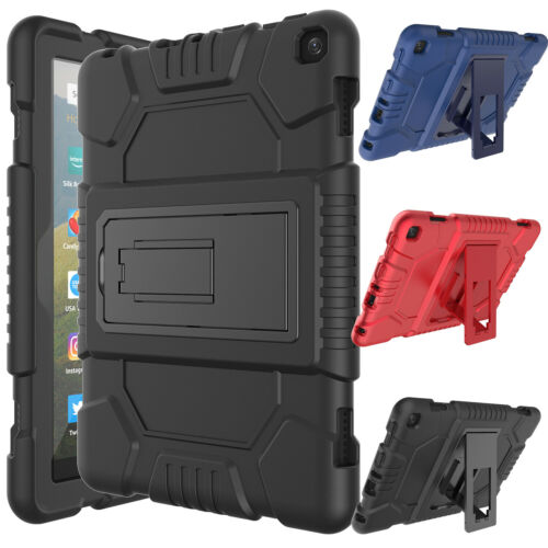 """For Amazon Kindle Fire 7"""" / HD 8"""" 2020 /10th Gen/8 Plus Case / Screen Protector"""