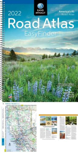 Rand Mcnally USA Road Atlas 2022 BEST Easy Finder Travel Maps United States TOP