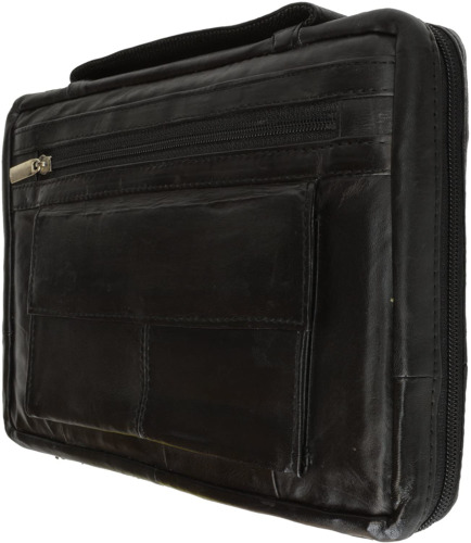 """Distressed Large Leather Look Bible Book Cover Protective Case 12"""" x 9."""" Regular"""