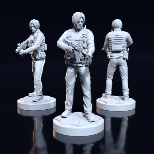 35 mm Leon S. Kennedy fanart Resident Evil Miniature for Zombicide|DnD
