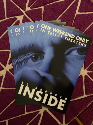 Bo Burnham - Inside RARE Poster (In Theaters One Weekend Only) W13.5 in X H20 in