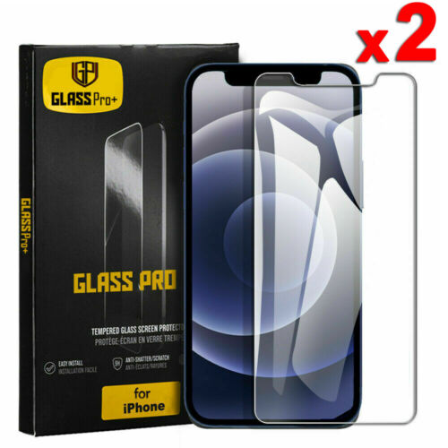 2X For iPhone 12 Mini 11 Pro XR XS Max 7 8 Plus Tempered Glass Screen Protector