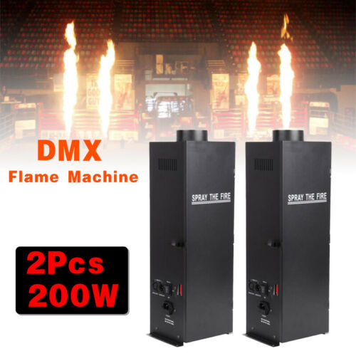 2Pack 200W DMX Fire Thrower Flame Effect Projector Machine Stage Show Club Party