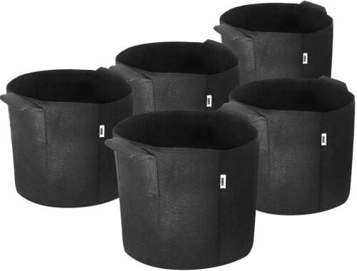 iPower Plant Grow Bags Thickened Nonwoven Aeration Fabric Pots Durable Container