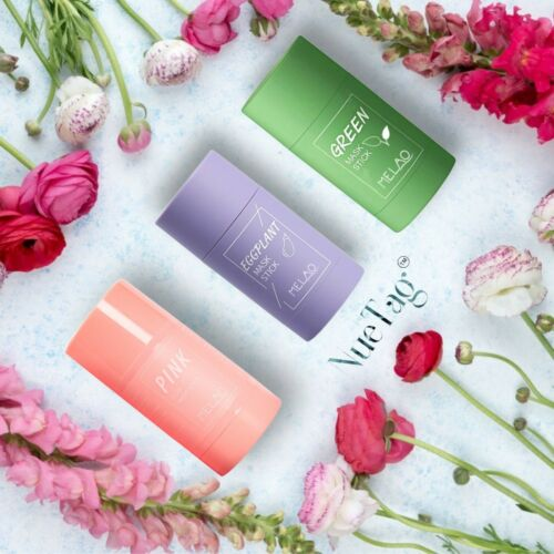 Green Tea Purifying Clay Stick Mask Anti-Acne Deep cleansing Oil control Beauty.