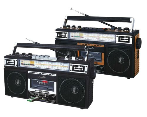 SuperSonic Retro 4-Band Radio & Cassette Player with Bluetooth