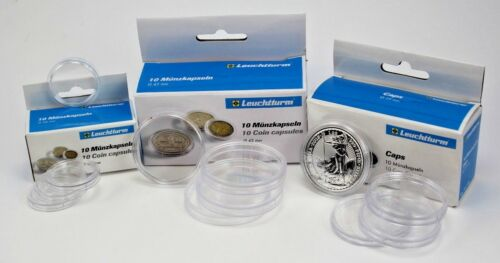 Lighthouse Coin Capsules - Packs of 10 - Various Sizes