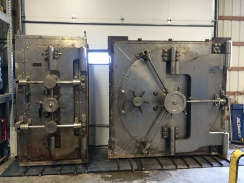 Antique Diebold Circular Round Bank Vault Door