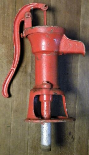 Vintage CAST IRON Red Hand Well WATER PUMP Humphryes Mfg.Co. MANSFIELD, OHIO USA
