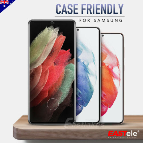 For Samsung Galaxy S21 S21+ S21 Ultra Full Cover Tempered Glass Screen Protector