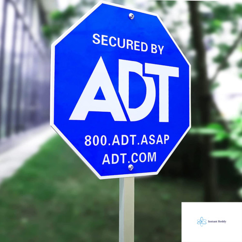 """SWEETFULL 28"""" ADT Sign, ADT Security Signs with 6 Double-Sided Stickers Metal Yar"""