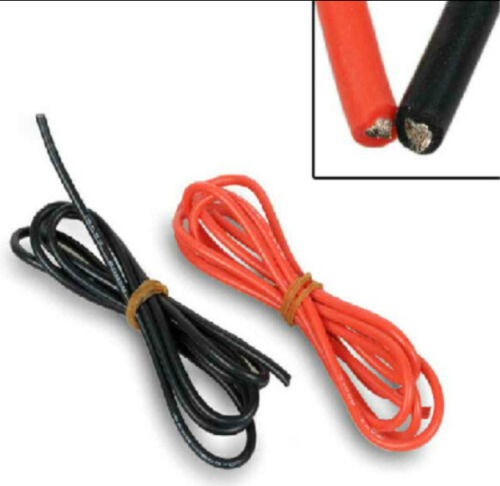 High quality 20AWG Silicone Wire Cable Flexible Black+Red Cable Copper 1M+1M