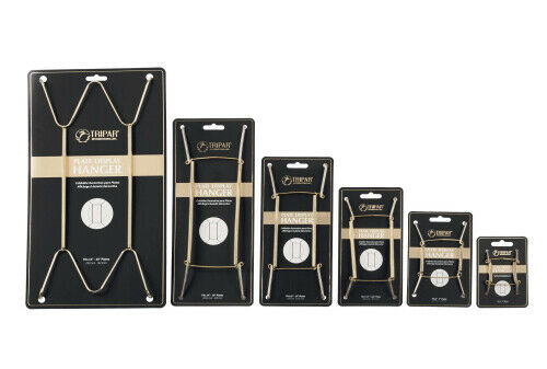 Deluxe Plate Hangers CHOICE of 6 Sizes Brass Wire Wall Display Quality