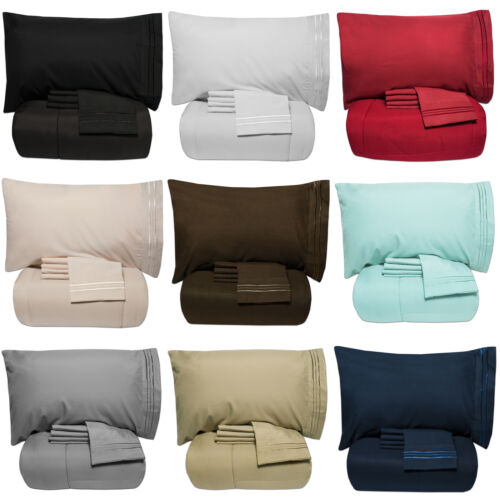 Luxury 5 Piece Bed-In-A-Bag Down Alternative Comforter & Sheet Set 12 Colors