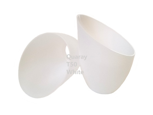2-Pack Quaray T50 White Plastic Lamp Shade for Torchiere Floor Lamp