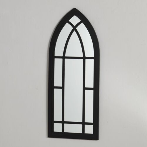 Wall Hanging Cathedral Style Mirror with Window Frame Look