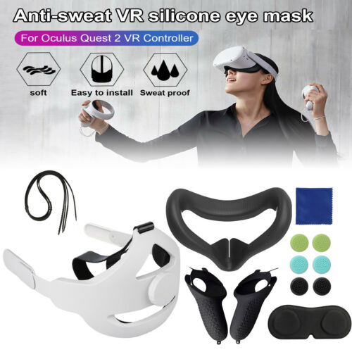 6PCS Silicone for Oculus Quest 2 VR Glasses Accessories Replace Face Cover Case