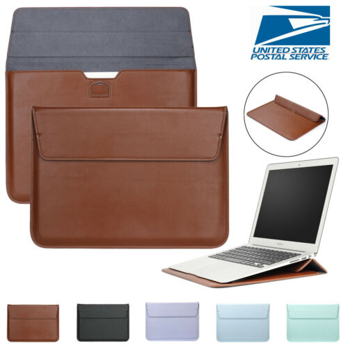 Leather Laptop Sleeve Bag Pouch Case Cover For MacBook Air 11 13 Pro 15 Retina