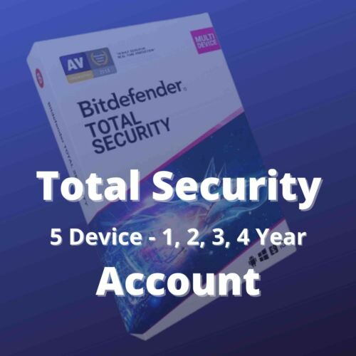 Bitdefender Total Security 2021 Global Subscription 5 Device 1, 2, 3, 4 Year