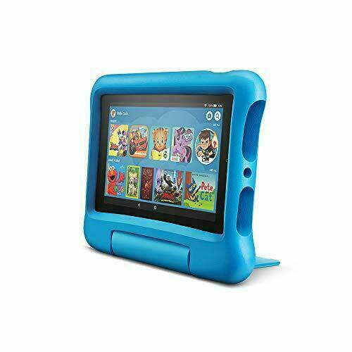 """BRAND NEW Amazon Fire 7 Kids Edition 7"""" 16GB Tablet - Blue KID PROOF CASE"""
