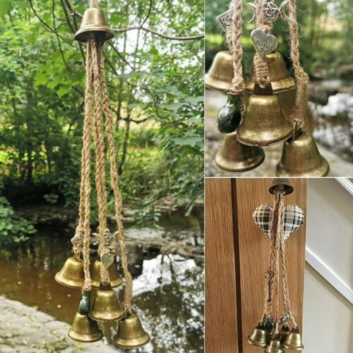 Witches Bells, Door Protection Charm, Wicca Decor, Altar Decor, Window Decor