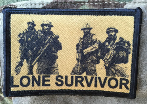 Lone Survivor Movie Morale Patch Tactical ARMY Hook Military USA Badge Flag