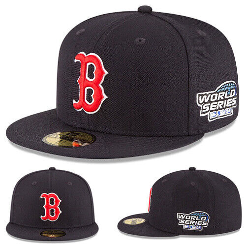 New Era Boston Red Sox 5950 Fitted Hat MLB 2004 World Series Classic Cap