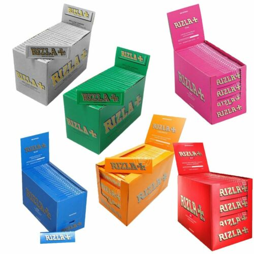 20 RIZLA BLUE GREEN PINK RED SILVER NATURA LIQUORICE - Regular Rolling Papers