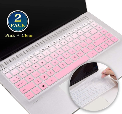 Silicone Keyboard Cover Protector for HP Pavilion x360 14 Inch, 2020 2019 2018 H