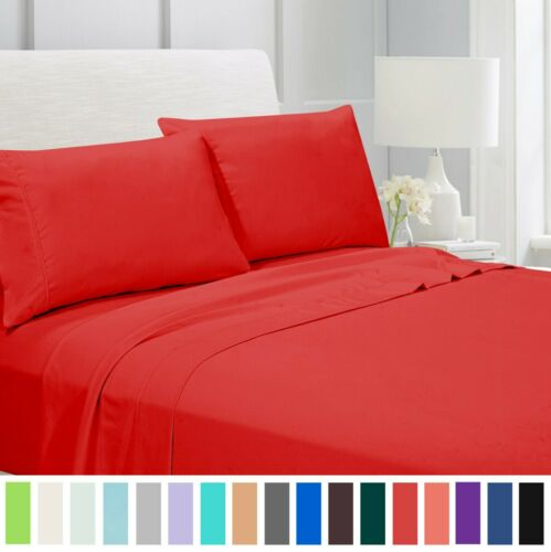 Egyptian Comfort 1800 Count 4 Piece Bed Sheet Set 20 colors & All Size Available