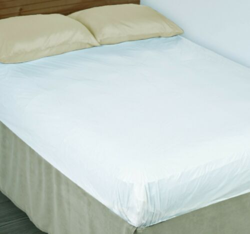 Lightweight Mattress COVER Fitted Plastic Bed Protector PEVA, Twin/Full/Queen