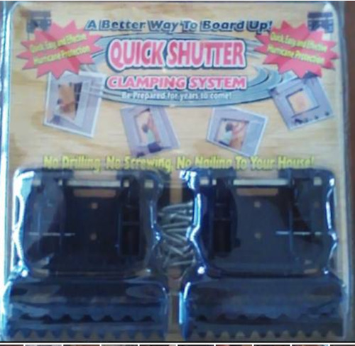 Quick Shutter Clamping System!  Brand New!  Great Hurricane Protection for years