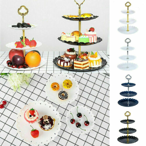 Round 3-Tier Cupcake Stand Cake Dessert Wedding Event Party Display Tower Plate