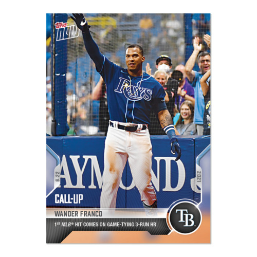 Wander Franco RC 2021-06-22 TOPPS NOW #402 CALL-UP Debut 1st Home Run Rookie