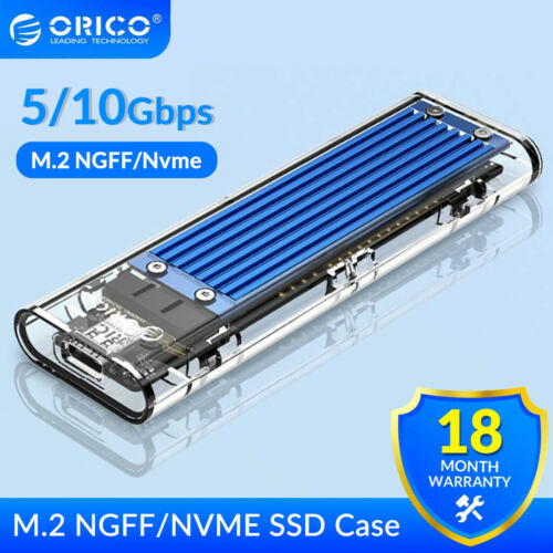 ORICO PICE to NVME/SATA NGFF USB3.1 Type-c M.2 NVME SSD HDD Enclosure 5/10Gbps