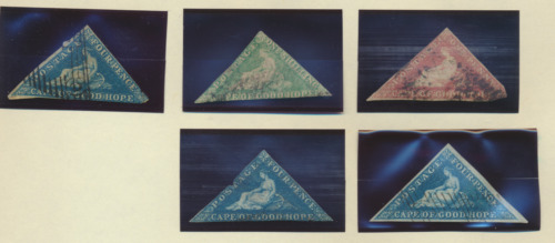 Cape of Good Hope Stamp Five Triangle Stamps, Used, Unidentified, Faults, As Is