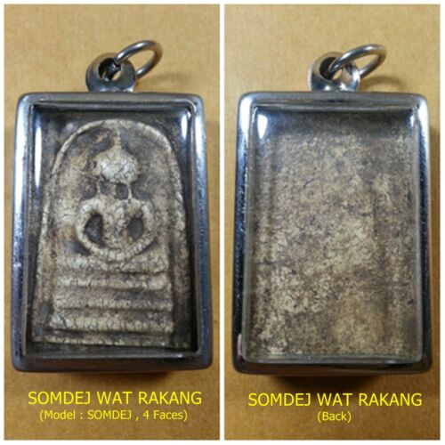 Antique Rare! TOP AMULET of THAILAND (of ASIA) Buddha Statue Pendant ,200Yrs. #6