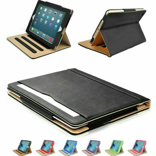 Soft Leather iPad Case Magnetic Smart Cover w Sleep Wake Folio Stand for APPLE